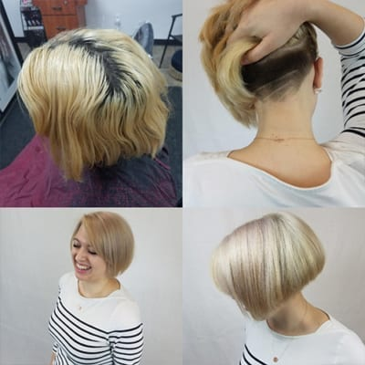 Blonde Undercut by The Salon of Classic AutoSmith