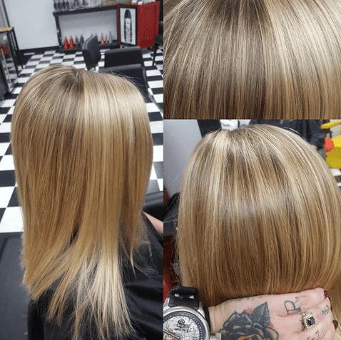 Natural glossy hair for fall 2018