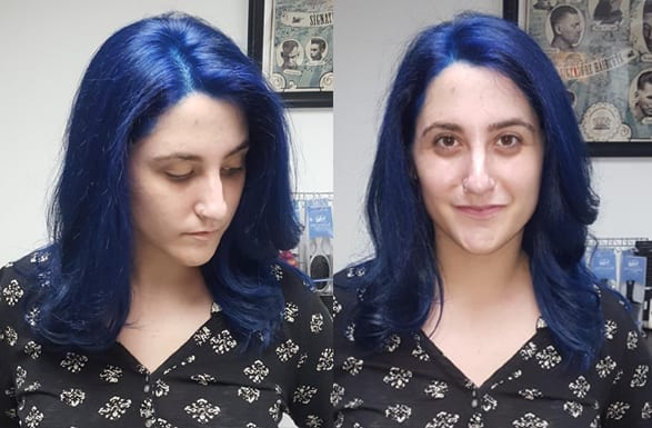 Sapphire blue hair color for fall